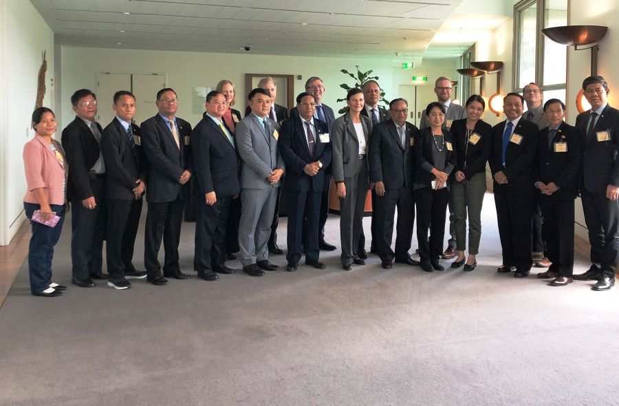 Meeting with the Myanmar Delegation and United Nations Development Programme senior officials at Parliament House (2019)